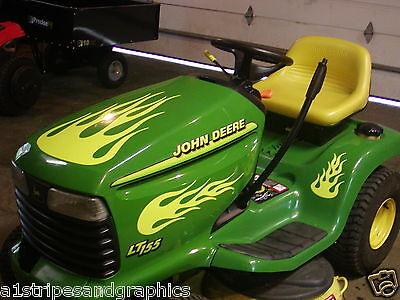 Lawn Tractor #1 Flame Flames Decal Decals FIT John Deere Cub Cadet Toro KUBOTA