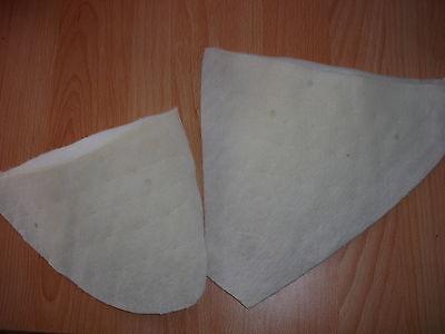 3 Paar Schneider - Schulterpolster weiß (pro Paar nur 66 Cent)