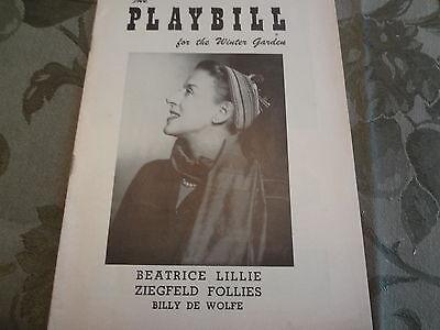 1957 Beatrice Lillie Ziegfield Follies Broadway Theater Playbill Program