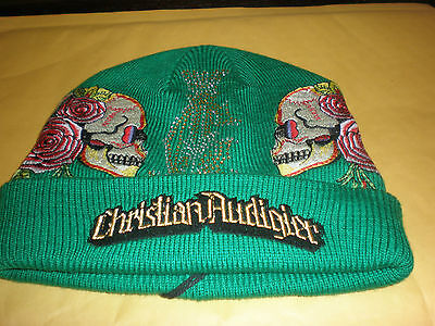 Kids Christian Audigier Green Hat With Tags