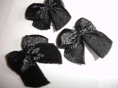 DEKO Schleifen Satin schwarz 10 Stück (nur 20 Cent pro Stück)
