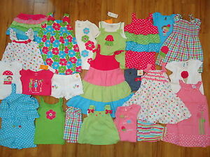 NWT NEW Gymboree Spring Summer Wholesale Girls 3 Outfits LOT 2T 3T 3 4T 4 FS