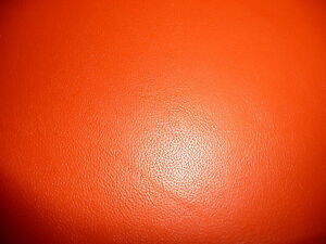 10 sq ft BRIGHT Orange Cowhide Top Grain DIVINE Leather Hide PeggySueAlso