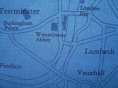 EBOR - London Map (Blue) - 100% cotton