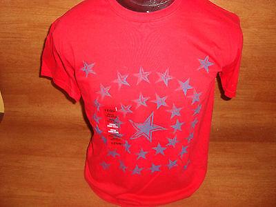 Mens M Izod T Shirt Short Sleeve Cotton Red Blue Star Vintage Wash Patriotic