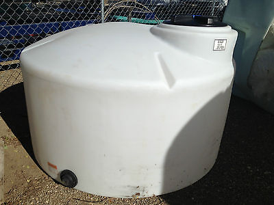 550 Gallon Poly Water Storage Vertical Tankcontainer Chemical Storage