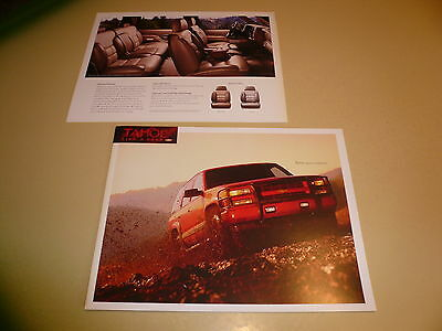 Chevrolet Tahoe Red Limited Sales Flyer - Four Pages - Vintage
