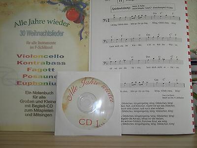 Weihnachten auf dem Cello - Noten+Begleit-CDs