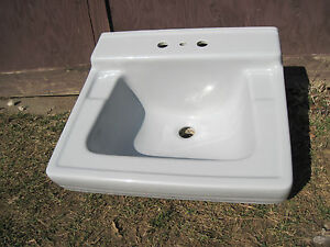 Antique Vintage American Standard Gray Bathroom Console ...