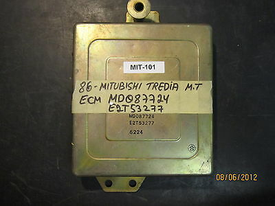 1986 MITSUBISHI TREDIA M/T ECU/ECM #MD087724/E2T53277 *see item description*