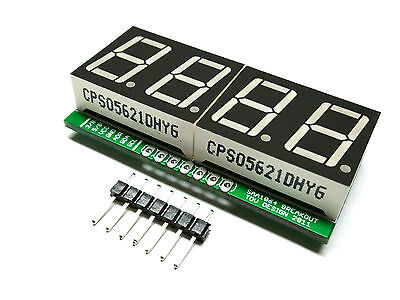 I2C 4 Digit 7 Seven Segment Display Arduino uController 5V Choose Red or Green on Rummage