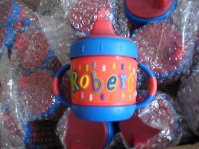 2 Personalized Name Robert My Sippy Cup Baby Child Cup No Spill Container