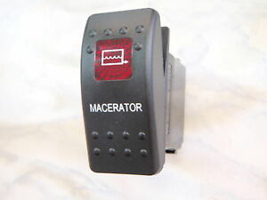 MACERATOR-PUMP-SWITCH-MARINE-BOAT-PARTS-CARLING-V1D1-1-RED-LENS-BLACK-CONTURA-II