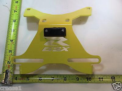 Suzuki Gsxr Gsx-r 1000 Fender Eliminator Yellow Logo Plate Light 2003 2004