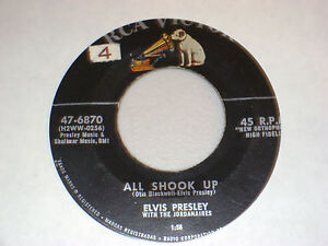 45-RPM-ELVIS-PRESLEY-ALL-SHOOK-UP-RCA-47-6870-EARLY-ROCK-N-ROLL-57-VG