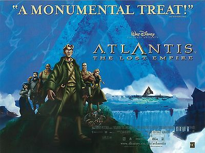 Disney's Atlantis poster - original uk quad movie poster (main style)