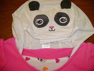 Gymboree Panda Academy Panda Face Pieced Dress Hoodie Ears Stick Up 5t 5