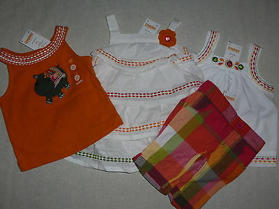 Gymboree Batik Summer White Rumba Tiered Dress Baby Girl 3-6