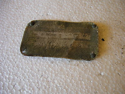 1959 International 340 Utility Tractor Original Ih Serial Number Tag 5374 S