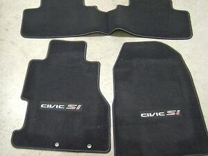 Oem Honda Floor Mats 02-05 HONDA CIVIC Si H/B CARPET FLOOR MATS in BLACK set of 3 GENUINE ...