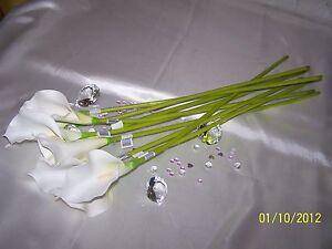 BULK-BUY-premium-Long-Stem-CALLA-LILY-Mix-white-or-ivory-24single-stems