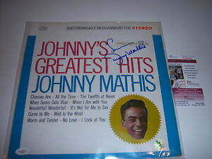 JOHNNY-MATHIS-JOHNNYS-GREATEST-HITS-JSA-COA-SIGNED-LP-RECORD-ALBUM