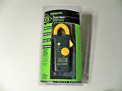 Greenlee Cm-600 Acdc 600a Clamp-on Meter Multimeter Clampmeter New