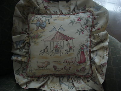Country Cottage Fun At The Country Fair Decorative Pillow - Farm Animals