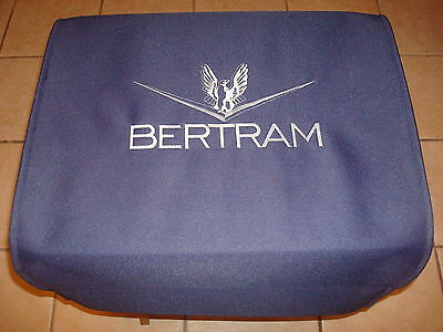 Bertram navy embroidered gunwale Boarding mat