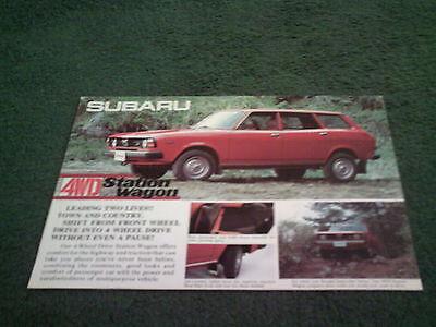 1977 1978 SUBARU 4WD STATION WAGON ENGLISH 10/77 BROCHURE