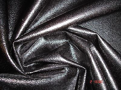 1 Laufmeter Kunstleder ,Textilleder schwarz glänzend - Aktionspreis 2,49€/m²!