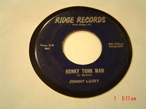 JOHNNY-LAURY-HONKY-TONK-MAN-RIDGE-RECORDS-SCARCE-TO-RARE-VG-PLAYS-V