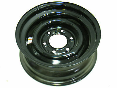 "15"" 6 Lug Dexstar Vintage Conventional Black Steel Trailer Wheel"