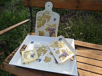 Plateaux Planche Mélamine Set De Table Collection Motifs Divers Fab.italie Neufs