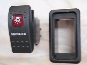 NAVIGATION-LIGHTS-SWITCH-WITH-VMS-PANEL-CARLING-V1D1-1-RED-LENS-BLACK-CONTURA-II
