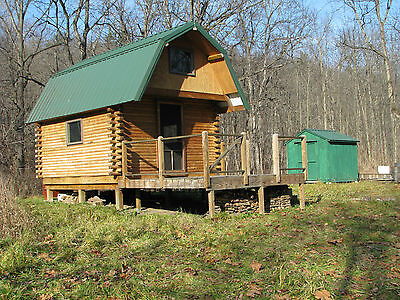 Log cabin, NY land 7 acres, hunting, fishing, stream, creek,  waterfront, camp,  on Rummage