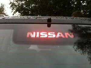 YOUR-NAME-LOGO-NISSAN-X-TRAIL-3rd-BRAKE-LIGHT-STICKER-OVERLAY