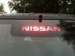 YOUR-NAME-LOGO-NISSAN-PRIMERA-P12-2006-3rd-BRAKE-LIGHT-STICKER-OVERLAY