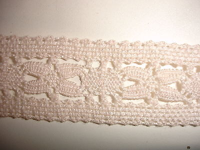 Klöppelspitze 0,40€/m 2,9 cm breit 10 Meter K32.7 rosa
