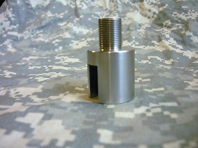 Ruger 10/22 Threaded Barrel End, Plain Muzzle Converter - Stainless