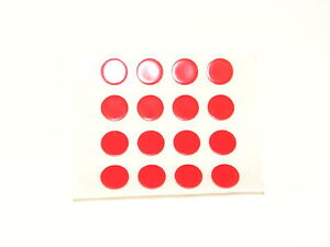 16 x RICHBROOK ORIGINAL TRANSPARENT TAX DISC HOLDER CLEAR STICKY PADS