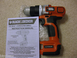 BLACK & DECKER 12V 12 VOLT LDX112 DRILL DRIVER LITHIUM ION NEW