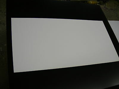 White Polystyrene Thermoforming Plastic Sheets .030 X 24 X 48