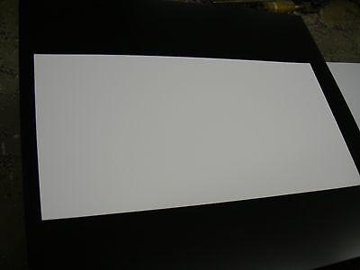 White Styrene Polystyrene Light Blocking Plastic Sheet .020 Thick 24 X 48