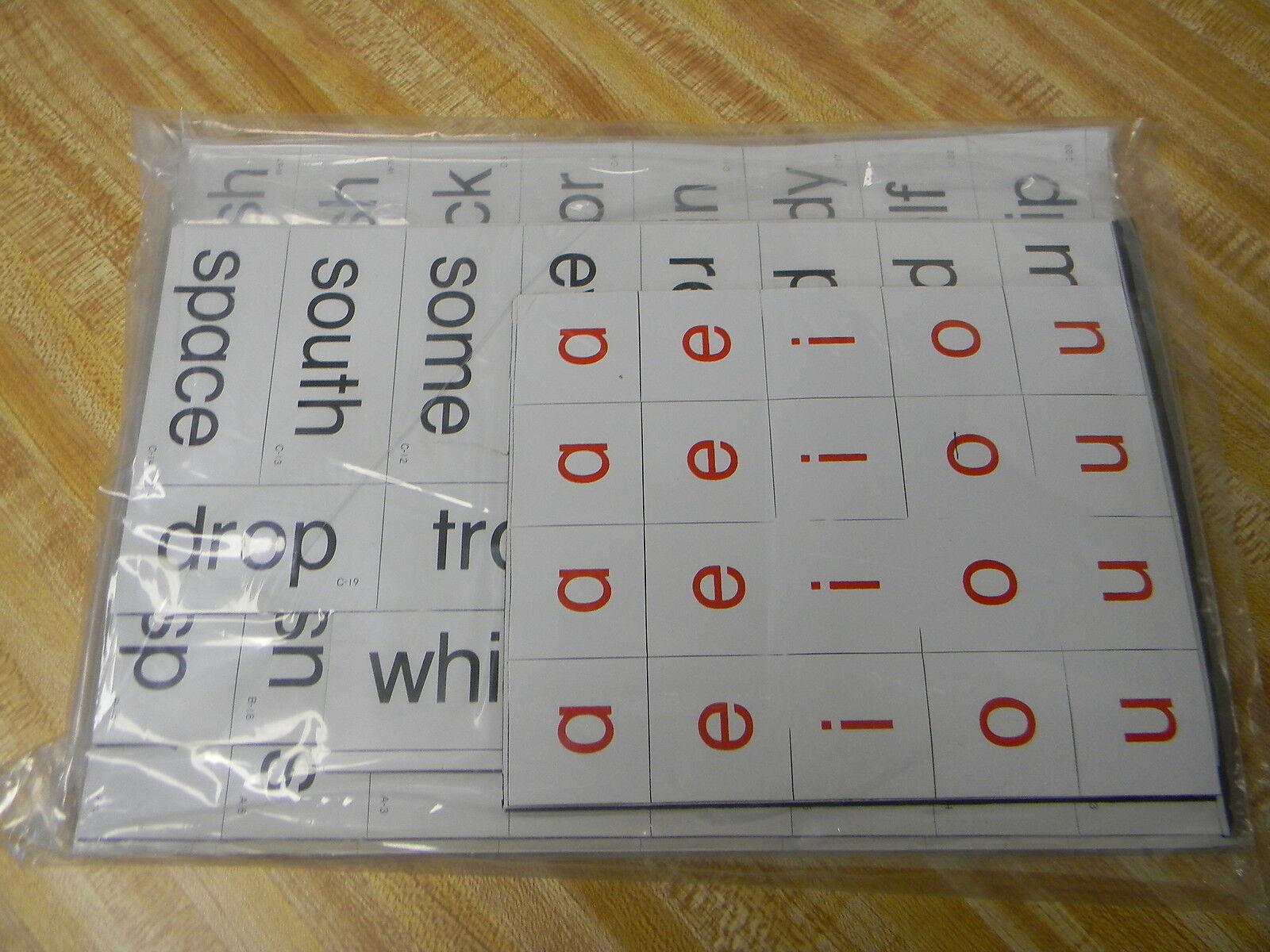 466 Magnetic Letters Words & Phonics Tiles Teachers Aid Spelling Sentence Making