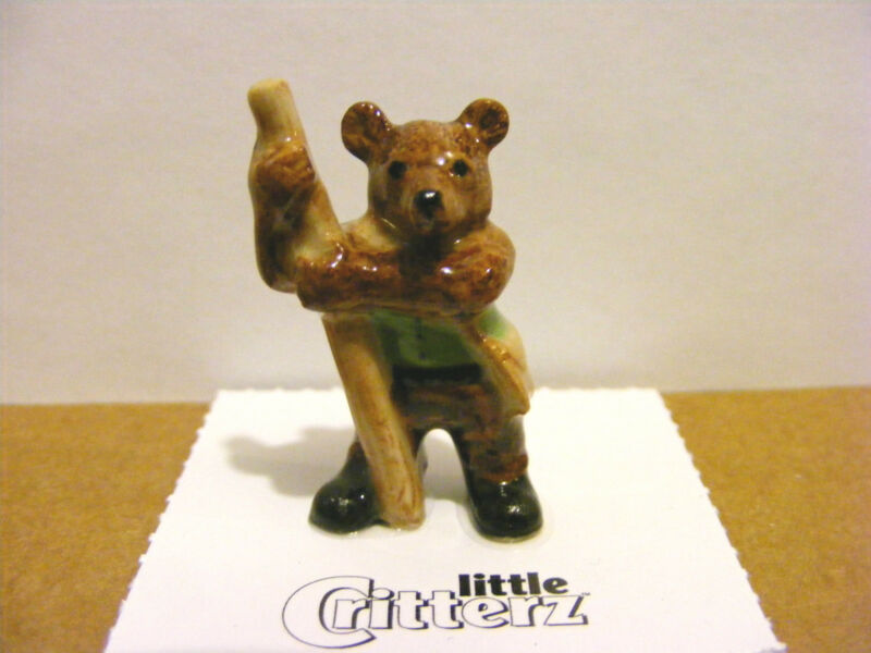 "Little Critterz ""Little John"" The Bear, Fairy Tailz, Miniature Animal Figurine"