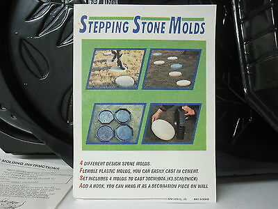 HOME GARDEN STEPPING STONE MOLDS 4 LEAF ...