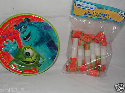 Monsters Inc Dessert Plates And Blowouts Party Supplies