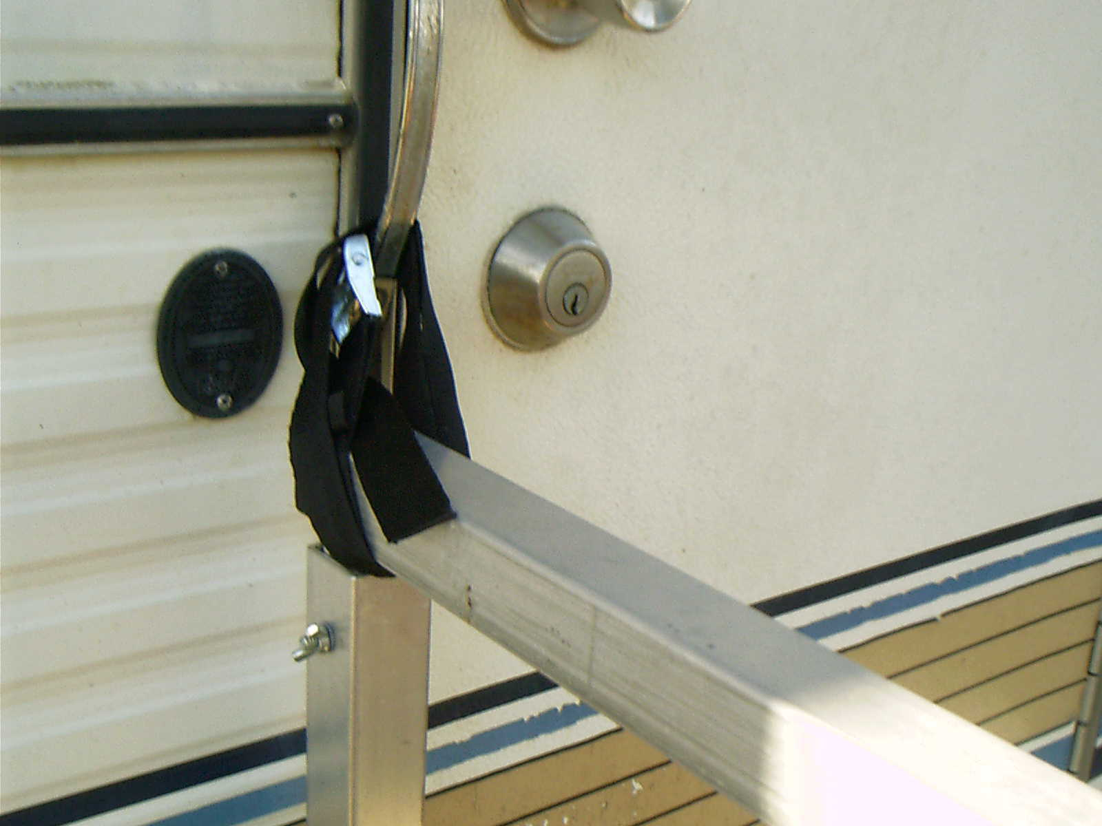 Portable Handrails For Steps Outside : Portable rv deck with steps and railings picclick