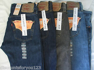 MENS-LEVIS-501-Button-Fly-Straight-Leg-Jeans-NWT
